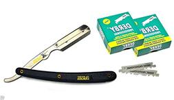 Stainless Steel Professional Straight Edge Barber Razor +100