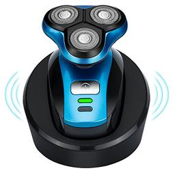 Wireless rechargeable electric shaver, wet and dry double sh