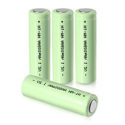 uxcell 4 Pcs 1.2V 600mAh AA Ni-MH Battery Rechargeable Batte