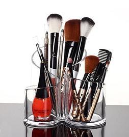 PuTwo Acrylic Makeup Brush Holder Desk Organizer Cosmetics O