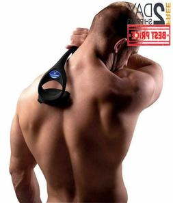 Back Hair Removal and Body Shaver Easy to Use Curved Pain-Fr