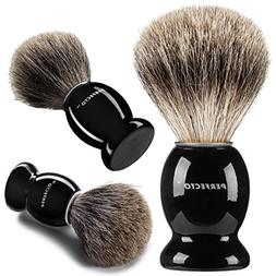 Perfecto 100% Pure Badger Shaving Brush-Black Handle- Engine