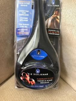 BAK blade 2.0  Back And Body Shaver Curved For Easy Use New