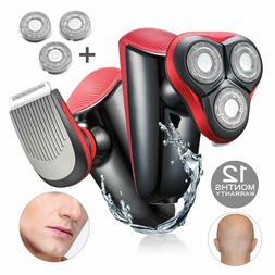 Bald Head Shavers For Men Smart Rechargeable Electric Heat F