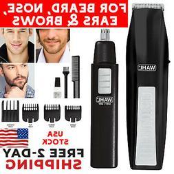 Wahl Beard Mustache Trimmer Man Cordless Nose Hair Clipper &