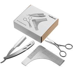Beard Trimming Tool, SoulBay Mustache Shaping Symmetric Kit