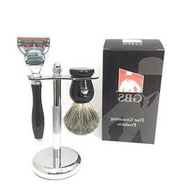 GBS 3 Piece Deluxe Shaving Set. 5 Blade Fusion Compatible Ra