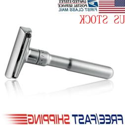 Brand new Stainless Steel Safety Razor Silver Manual Shaving