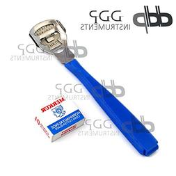 DDP Callus Shaver Callus Remover Safety Slide Blue Handle wi