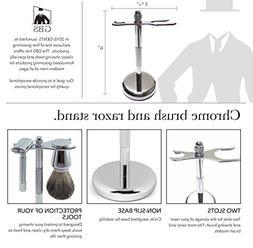 GBS Chrome Brush and Razor Shaving Stand. This will Maintain