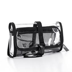 Zenwow Clear Tsa Approved Toiletry Bag,PVC Travel Cosmetic B