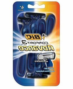 BIC Comfort 3 Advance Disposable Razor, Men, 4-Count
