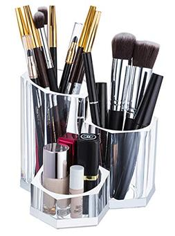 Sooyee Premium Acrylic Brush Holder Desk Organizer, Lipstick