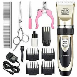 CAHTUOO Dog Grooming Clippers, Professional Pet Grooming Kit