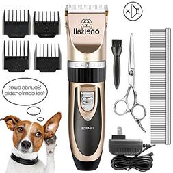 ONEISALL Dog Shaver Clippers Low Noise Rechargeable Cordless