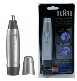 Braun Ear and Nose Hair Trimmer, Precise & Safe, Silver/Blac