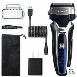 Electric Beard Trimmer Rechargeable Shaver Travel USB Charge