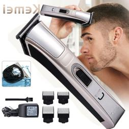 Pro Electric Shaver Hair Cutting Kit Clipper Cordless Trimme