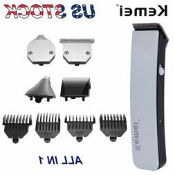 Kemei Electric Hair Trimmer Shaver 5 Replacement Heads Men F