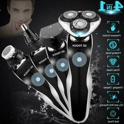 Electric Razor, Electric Shavers For Men, 4 In 1 Dry Wet Wat