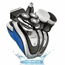Hatteker Electric Shaver Razor Dry Wet Beard Trimmer for men