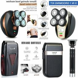 Electric Shaver Rechargeable Bald Head Beard Hair Trimmer Wi