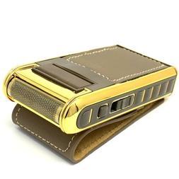 ZED1 electric shaver rechargeable foil for men gold cordless
