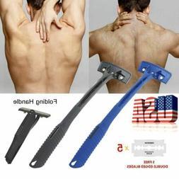 Folding Handle Back Razor Body Hair Shaver DIY Grooming Trim
