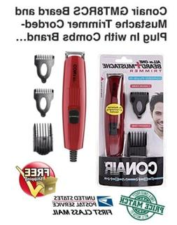 Conair GMT8RCS Beard and Mustache Trimmer Corded-Plug In wit