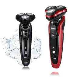 Red&Black Rotary 3D Rechargeable Washable Men's Cordless Ele