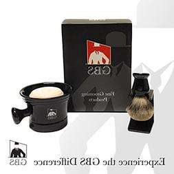 GBS Premium Men's Wet Grooming Shaving Set-Gift Boxed-Cerami