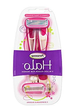 Personna Women's Halo Disposable Razor, Pink, 3 Count