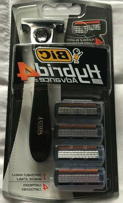 Bic Hybrid 4 Advance For Men, Disposable 4-Blade System 1 ea