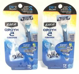 Schick Hydro 5 Disposable Razors for Men with Flip Beard Tri