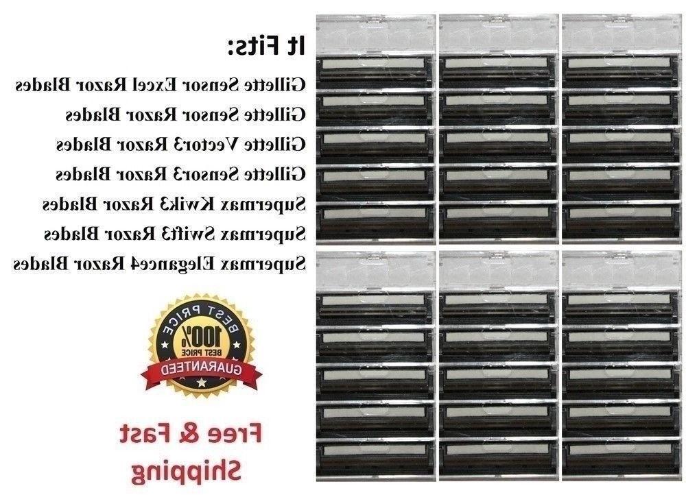 30 Cartridges Fits Vector3 Gillette Sensor 3 & Excel Razor S