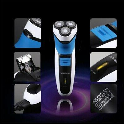 New Men's Electric Shaver 3D Floating Rotary Three-headed Re