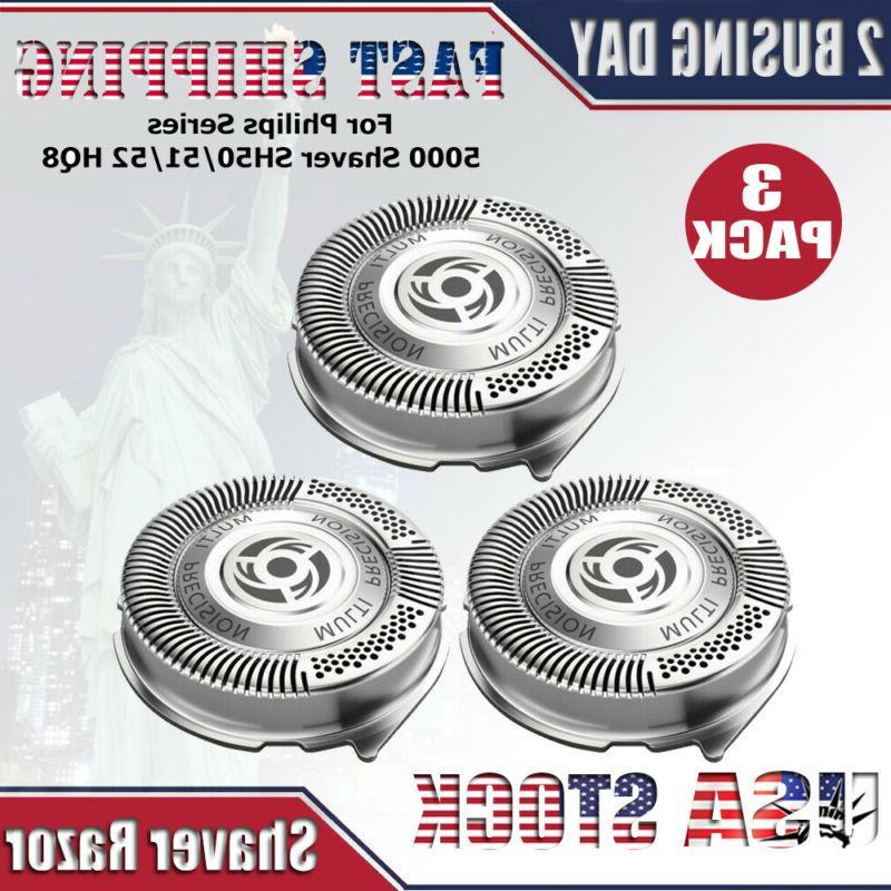 3x shaver razor replacement blades sh50 52