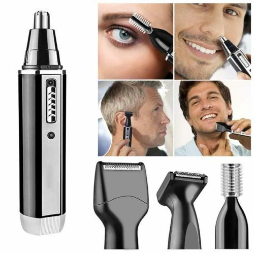 4 Hair Ear Beard Trimmer Electric Shaver Set