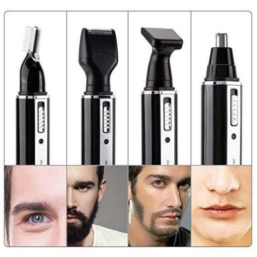 4 1 Rechargeable Hair Nose Beard Trimmer Electric Set