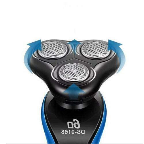 Electric Waterproof Rechargeable Beard Blue USA