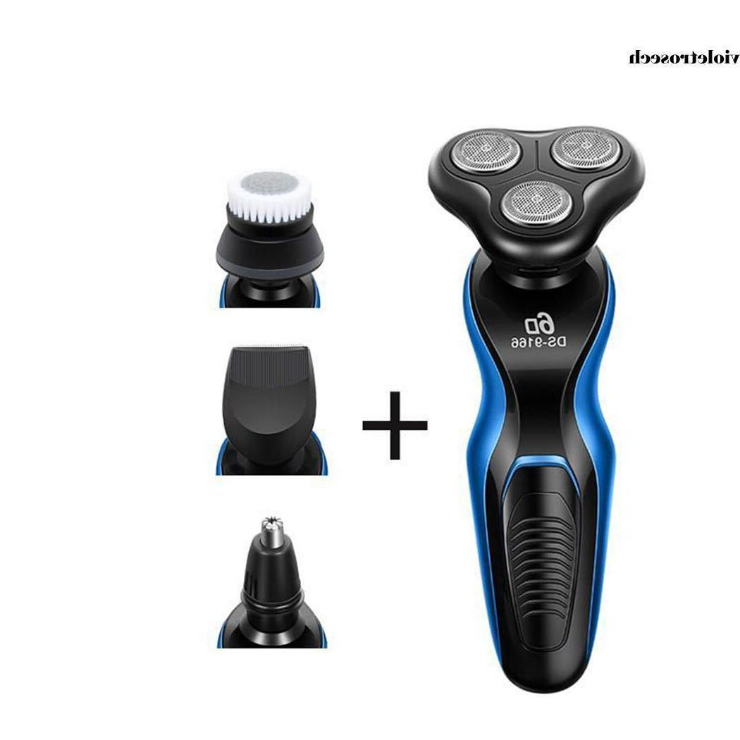 Electric Razor mens Waterproof Cordless Rechargeable Rotary~~
