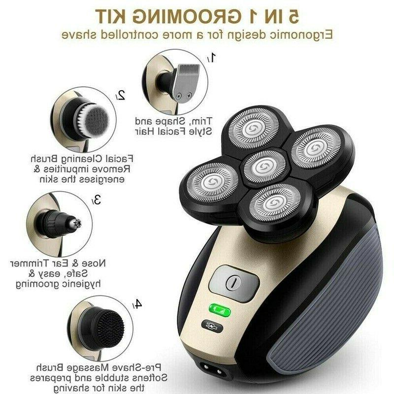 4D In Rotary Electric Shaver Bald Shaver Beard Trimmer