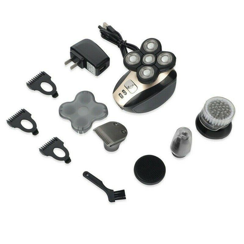 4D 5 In Rotary Electric Shaver Bald Head Shaver Trimmer