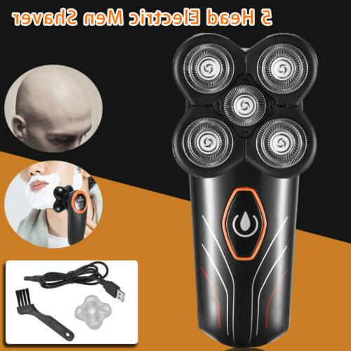 5 in 1 Grooming Kit For Men Cordless 4D Electric 5 Heads Sha