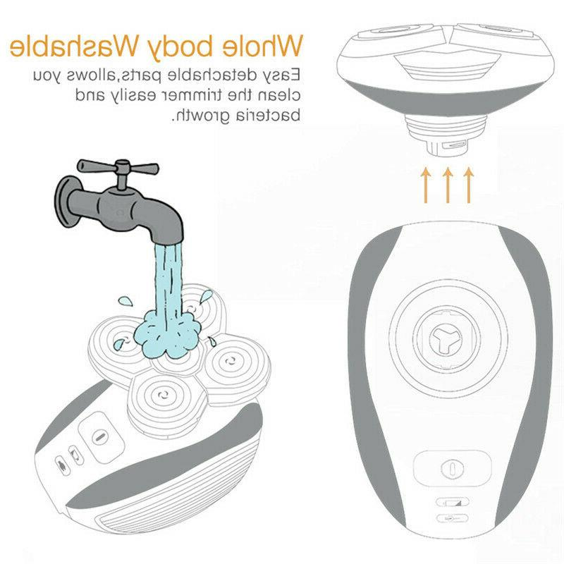 5 Rotary Electric Bald Head Shaver Trimmer Razor##