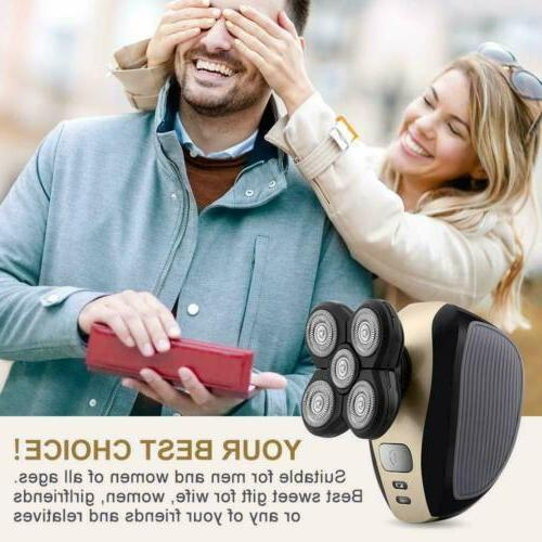 5 4D Rotary Mens Electric Shaver Bald Head Shaver US