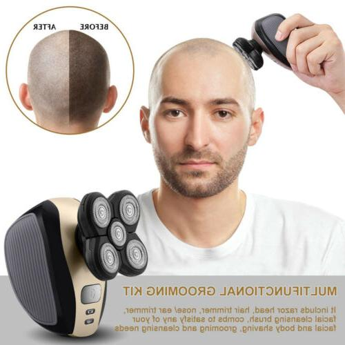 5 1 Rotary Electric Rechargeable Bald Head Trimmer US