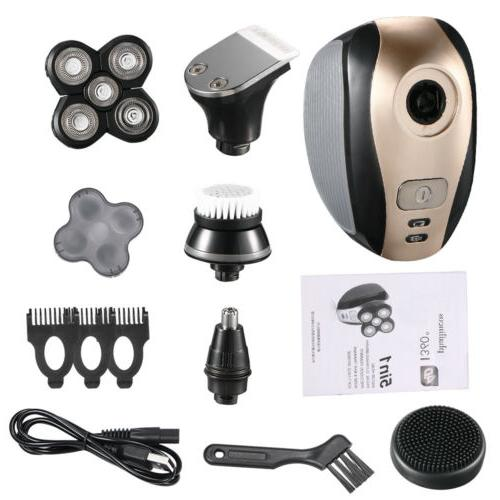 5 In 1 4D Rotary Bald Head Shaver