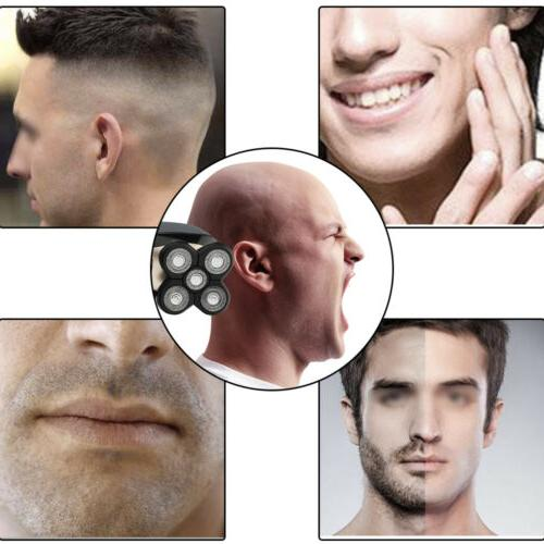 5 In 4D Rotary Electric Shaver Bald Shaver