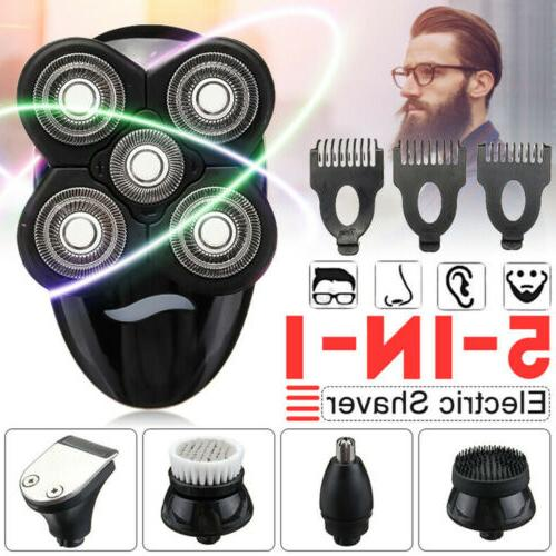 5In1 4D Rechargeable Razor Shaver Cordless Trimmer